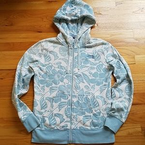 The North Face floral hoodie